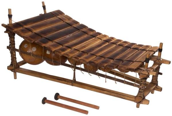Afroton Balafon, 14 keys, Ghana, c. L 80cm, W 45cm, H 40cm