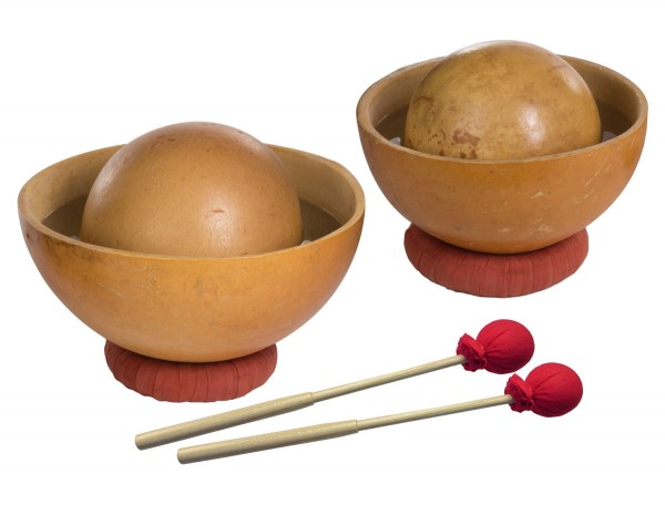 Afroton Waterdrum, set of 4, incl. mallets and rings