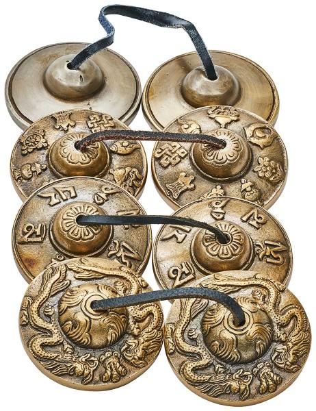 Cymbal, tingsha, Ø 7cm, var. designs