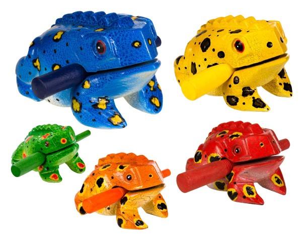 Froggy, bemalt, 5er Set, XS - XL, Holzratsche