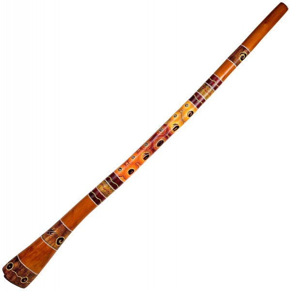 Didgeridoo, jackfruit, painted, L c.150cm