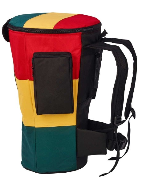 Afroton Djembe bag, Pro, Rasta, up toØ 32cm, H 65cm, Foot Ø 29cm