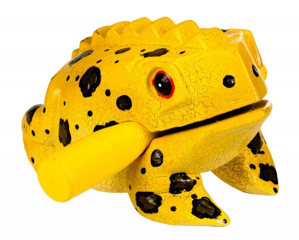 Froggy, bemalt, L, ca. 13 cm, Holzratsche