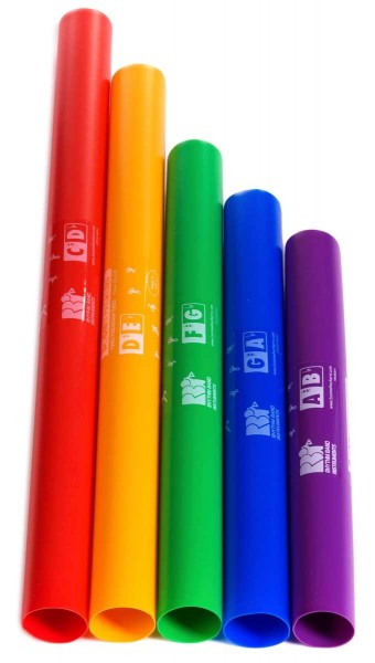 Boomwhackers Boomwhackers, chromatic addition, 5 tones