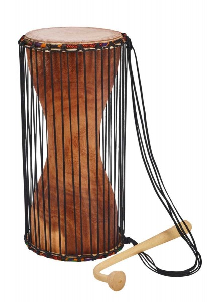 Afroton Dondo, talking drum, Ø 18cm, H 42cm, incl. mallet