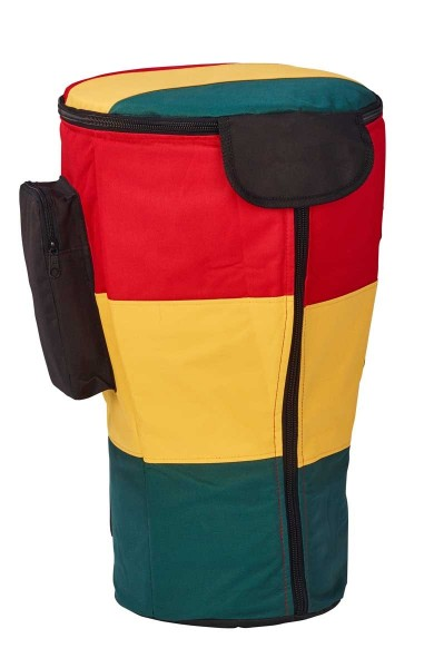 Afroton Djembe bag, Pro, Rasta, up to Ø 28cm, H 56cm, foot 24cm