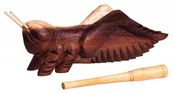 Cricket-guiro, 12cm, soft-wood scraper