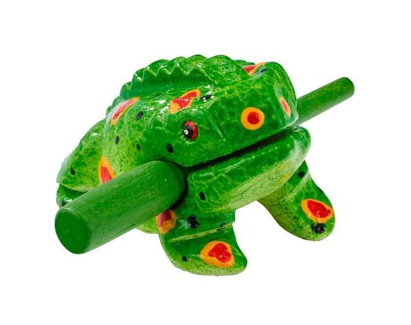 Froggy, painted, XS, appr. 7,5 cm, soft-wood scraper