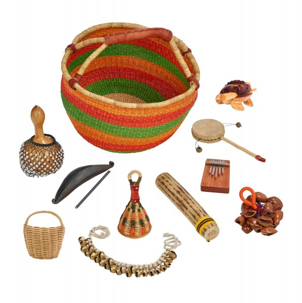 Ethnic-Percussionkorb, 10 Instrumente