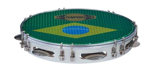 Contemporânea Pandeiro, Deluxe, Ø 10, brasilianische Flagge