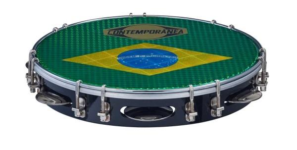 """Contemporânea Pandeiro, deluxe, Ø 10"""", Brazilian flag"""