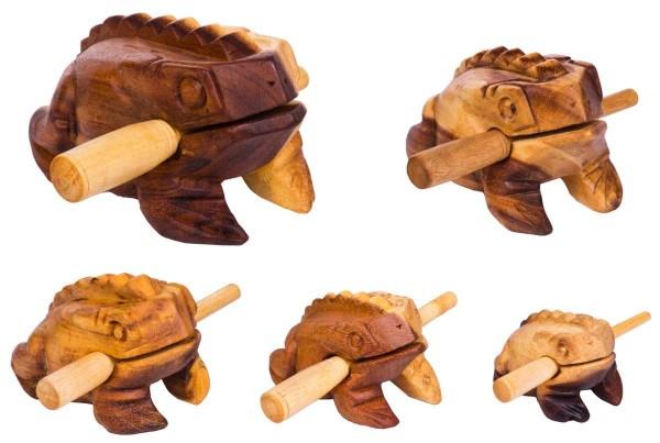 Froggy, set of 5, 5-20cm, soft-wood scrapers