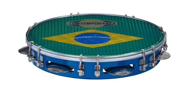 Contemporânea Pandeiro, deluxe, Brazilian flag