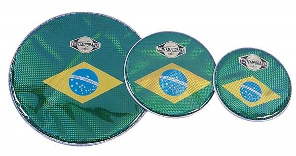 """Contemporânea Hologram head, Ø 12"""", Brazilian flag"""
