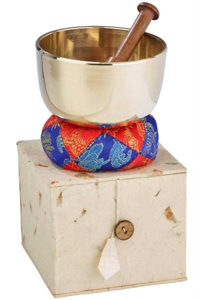 Klangschale, Geschenk-Set, silber, gegossen Ø 9,7cm