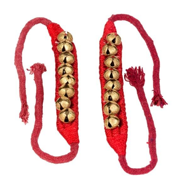 Bells, 1 row, pair, on velvet anklet