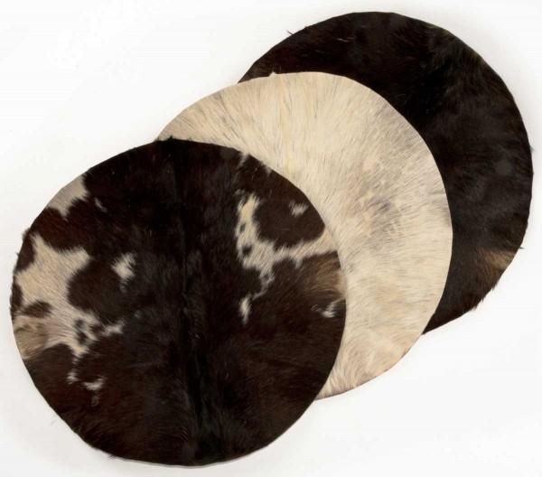 Afroton Ziegenfell, unrasiert, Ø 60cm