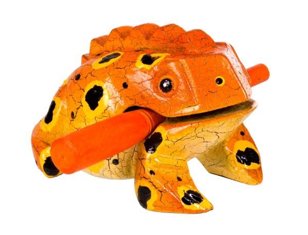 Froggy, bemalt, S, ca. 9 cm, Holzratsche