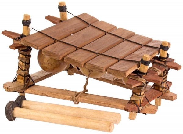 Afroton Balafon, 5 keys, Ghana, c. L 42cm, W 30cm, H 27cm