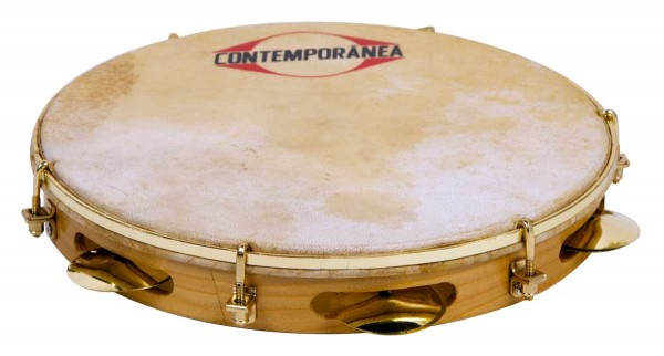 "Contemporânea Pandeiro, Pro, Ø 10"", extra light wood, special natural head"