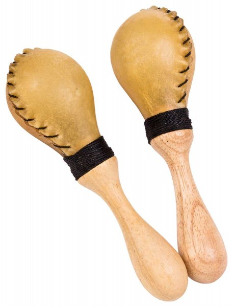 Leather Maracas, small, small, pair