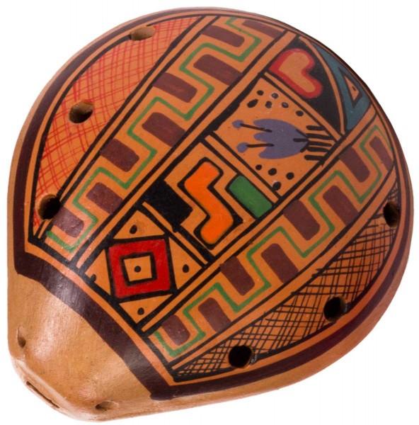 Ocarina, Inka-design, 8 x 10cm