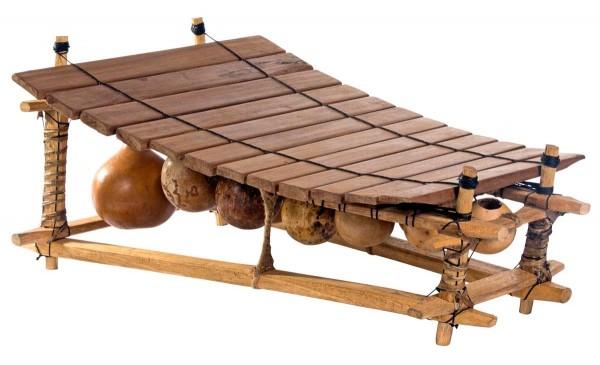 Afroton Balafon, 12 keys, Ghana, c. L 75cm, W 45cm, H 40cm