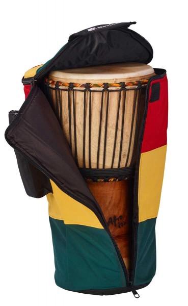 Afroton Djembe bag, Pro, Rasta, up to Ø 30cm, H 57cm, foot 26cm