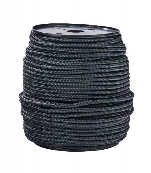 Rope, Ø 4,5mm, black, per meter